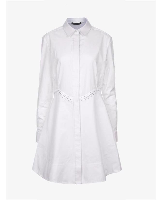 Alexander Wang White Cotton Laced Shirt Dress $768