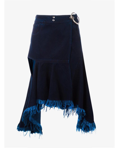 Marques'almeida Cutout frayed denim skirt $702