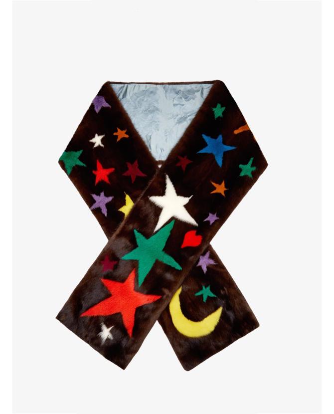 Gucci Symbol-intarsia mink-fur scarf $7,714