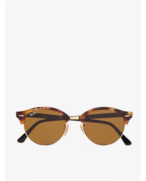 Ray-ban Clubround acetate and gold-tone sunglasses $222