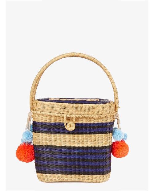 Sophie Anderson Cinto striped wicker basket bag $281