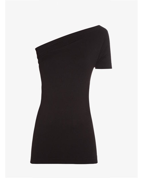 Helmut Lang One-shoulder jersey top $144