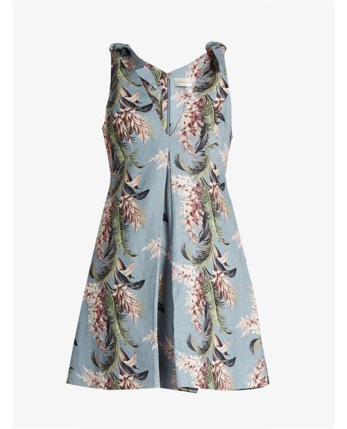 Zimmermann Winsome floral-print linen trapeze dress $680