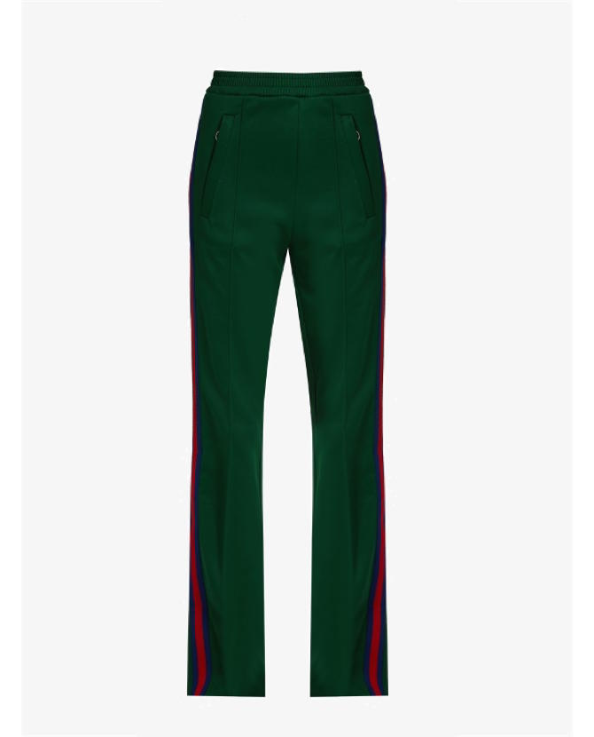 Gucci Web-striped jersey track pants $667