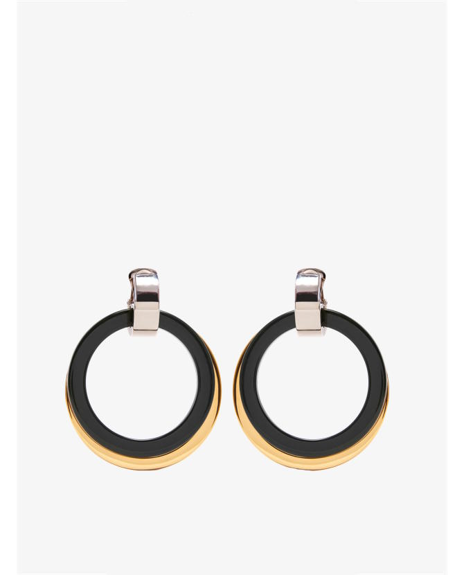 Marni Double-hoop drop clip-on earrings $417