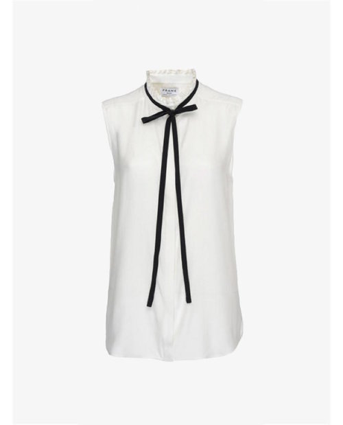 Frame Ruffle neck sleeveless blouse $229