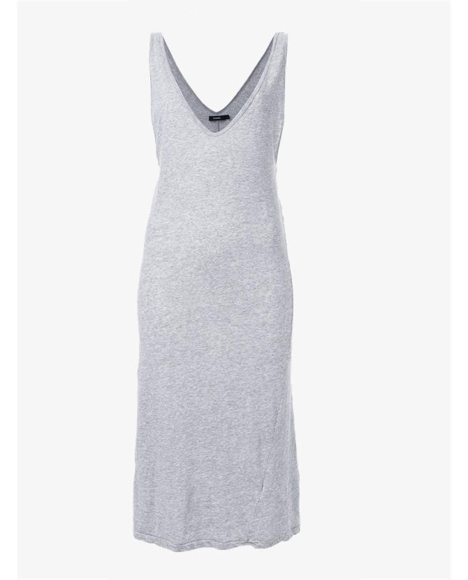 Bassike Deep V-neck tank dress $130