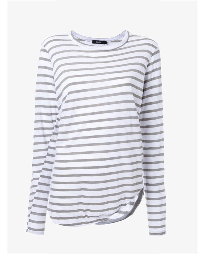 Bassike Striped scoop neck T-shirt $140