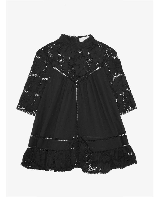 Zimmermann Caravan  lace-paneled embroidered top $591