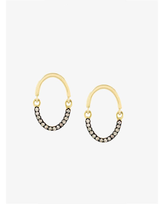 Yannis Sergakis Brown diamonds earrings $1,080