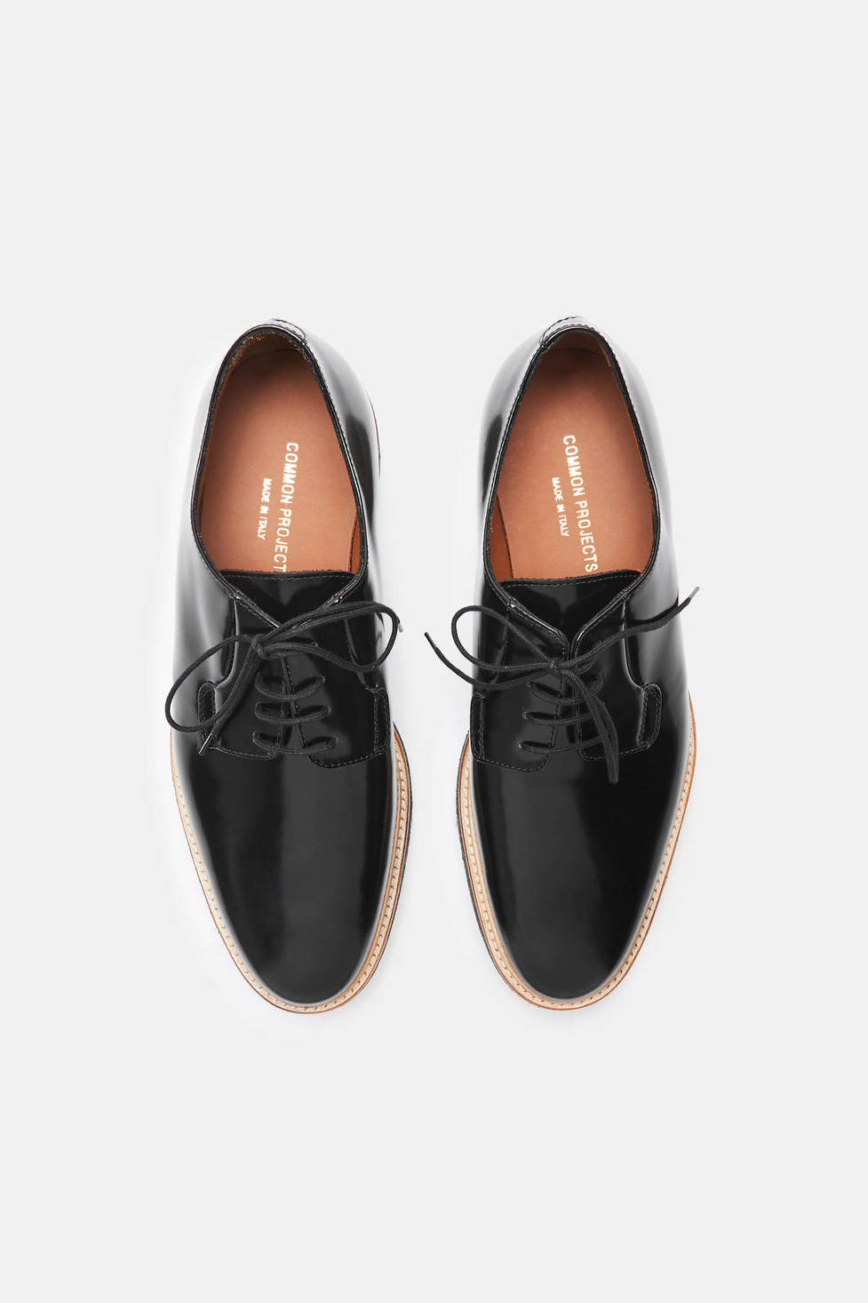 Common Projects Derby Shine - Black $524