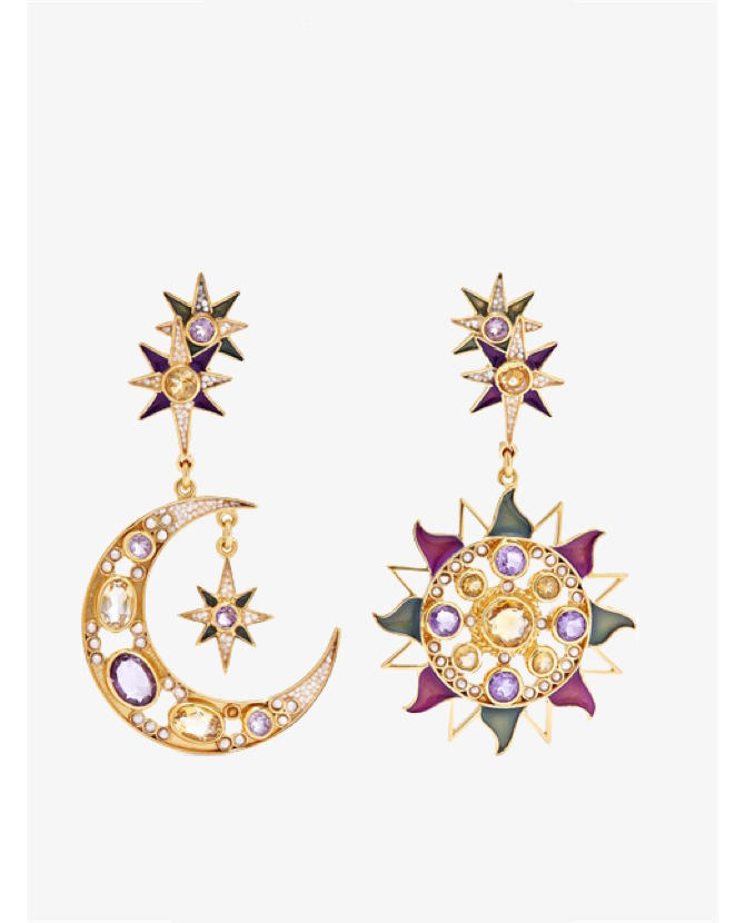 Percossi Papi Gold-plated multi-stone earrings $1,625