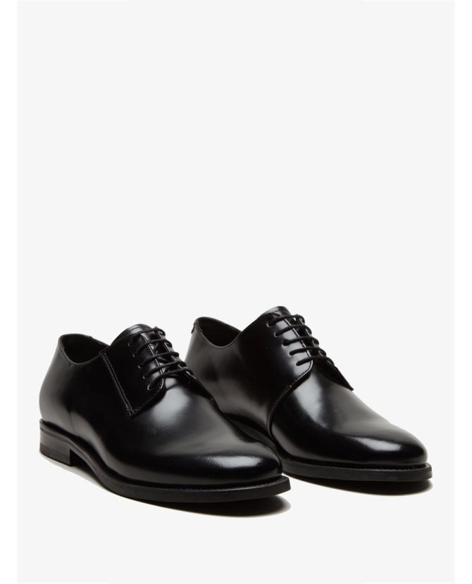 COS Lace-up black leather shoes $196