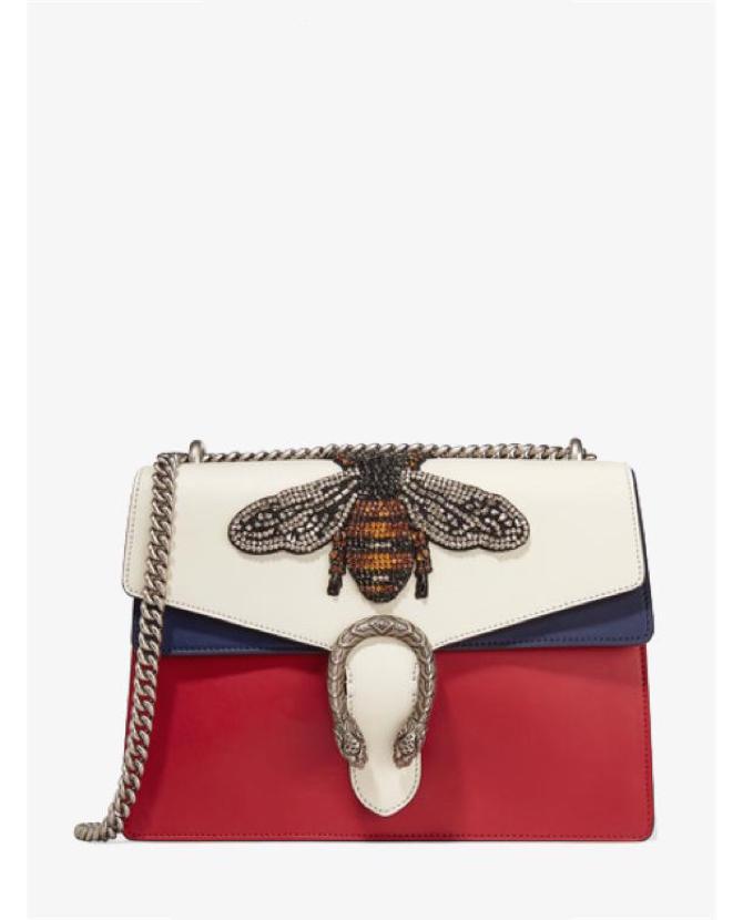 Gucci Dionysus medium appliquéd colorblock leather shoulder bag $5,531