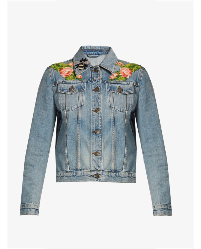 Gucci Embroidered denim jacket $2,012