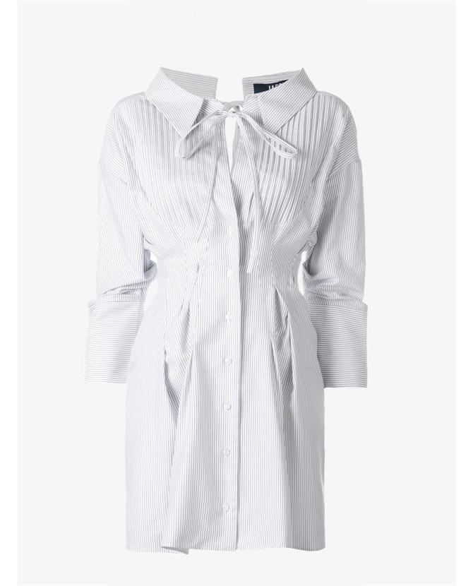 Jacquemus gathered shirt dress $589