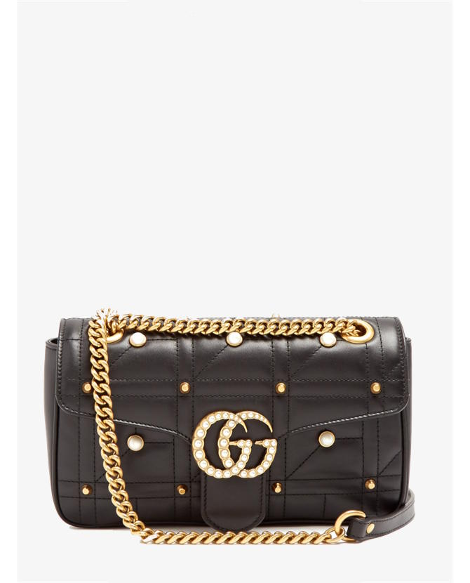 Gucci GG Marmont embellished quilted-leather bag $2,855