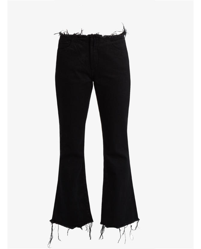 Marques'almeida Frayed-edge cropped flared jeans $305