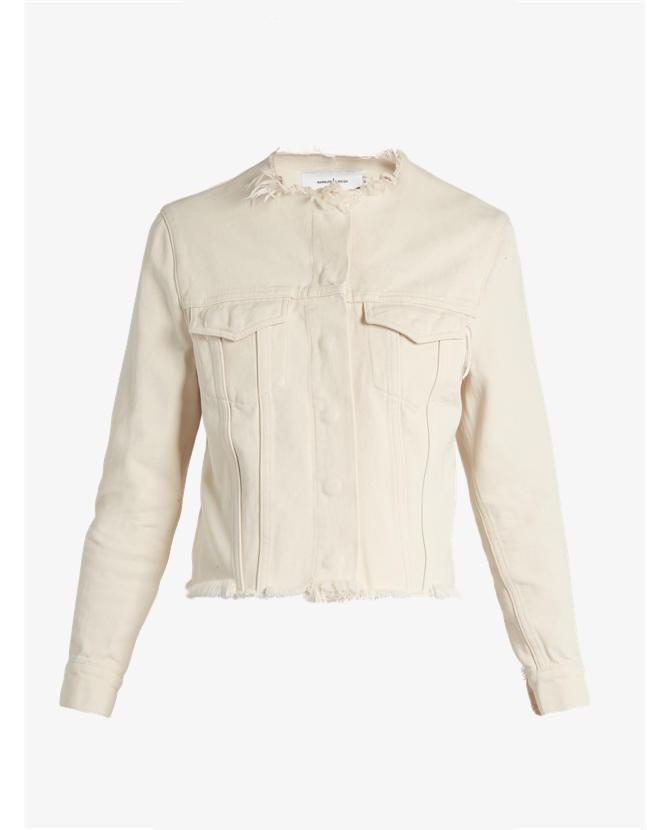 Marques'almeida Frayed-edge denim jacket $500
