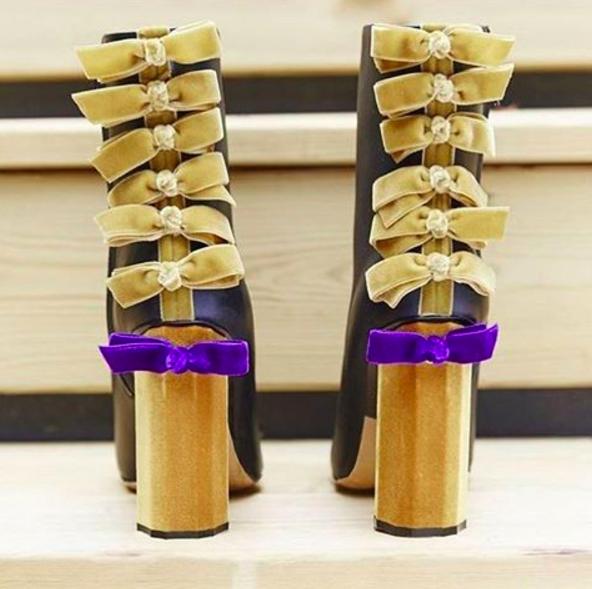 Marco de Vincenzo bow appliqué ankle boots $609