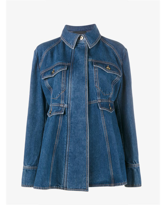 Ellery oversized flared denim jacket $1,463