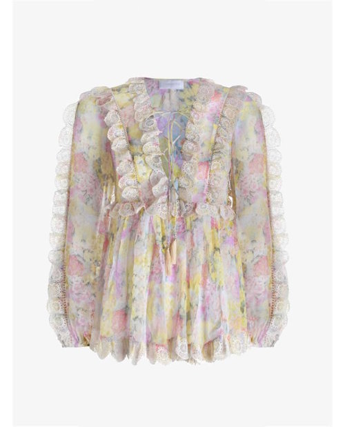 Zimmermann Valour Scallop Ruffle Blouse $695