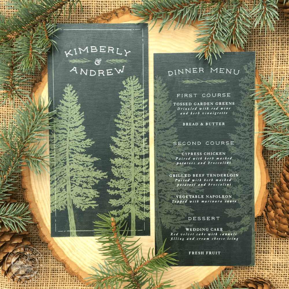 Eden Menu Cards