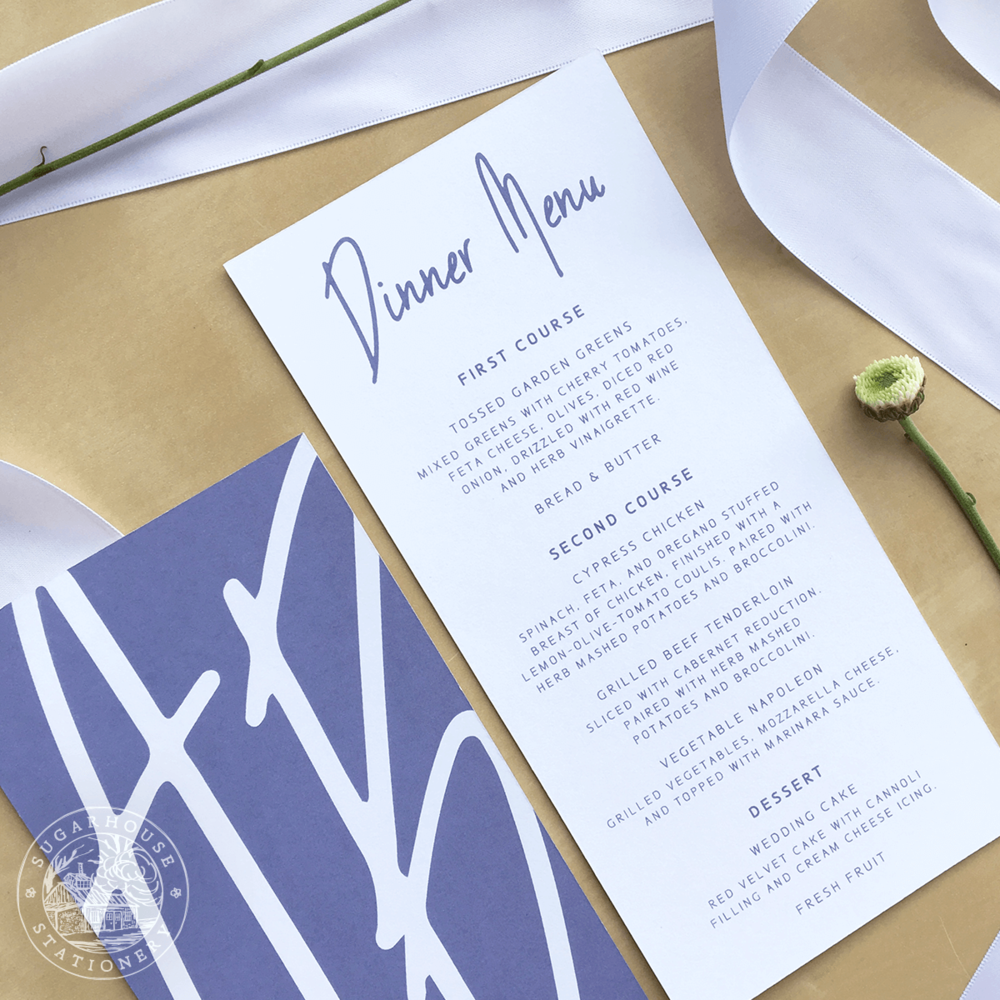 Killington Menu Cards