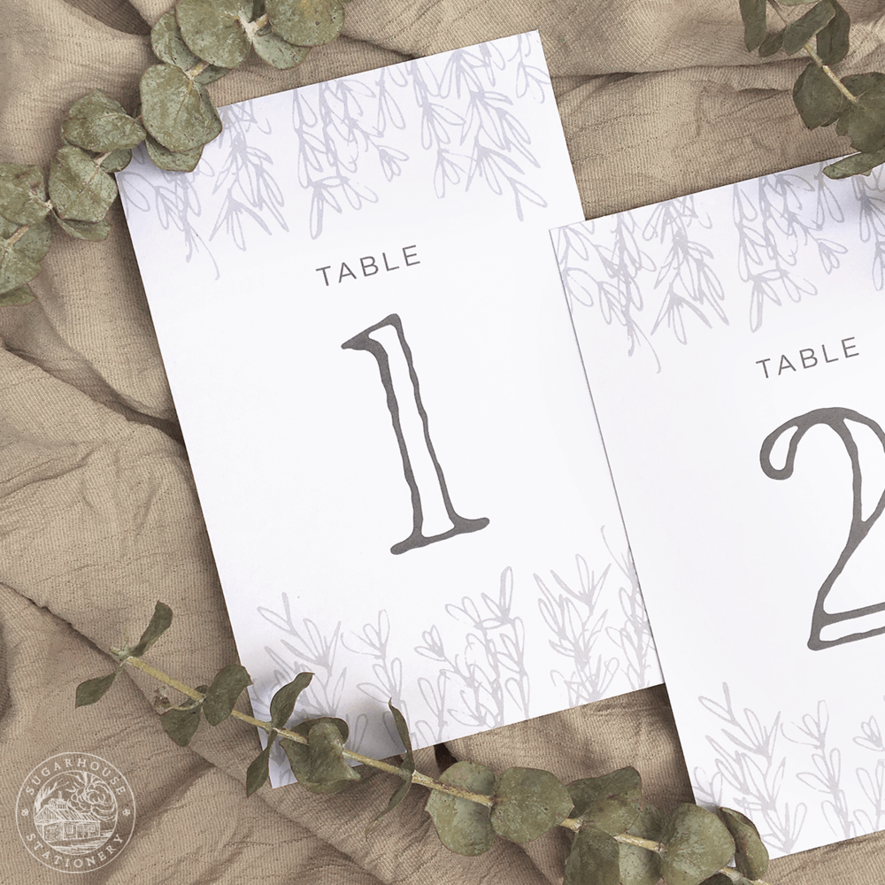 Mansfield Table Numbers