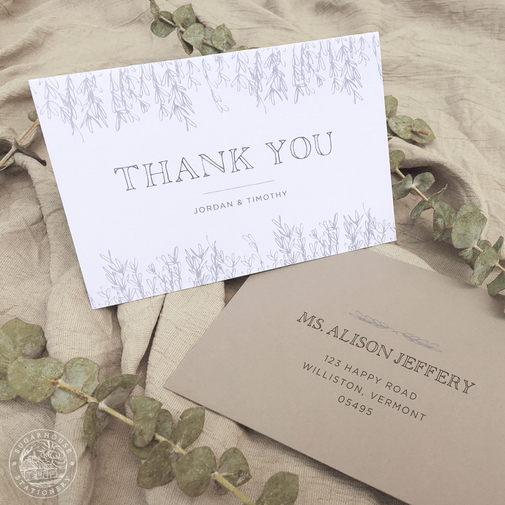 Mansfield Thank You Cards