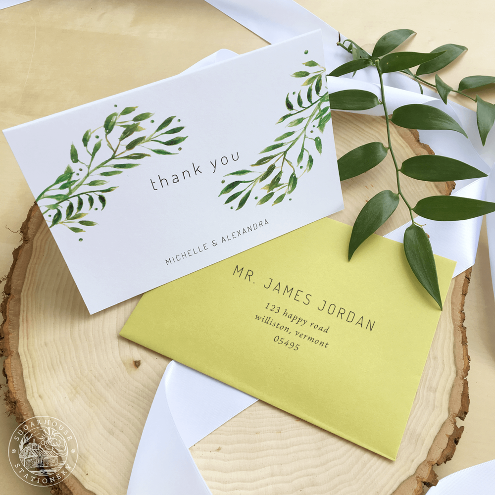 Waitsfield Thank You Cards