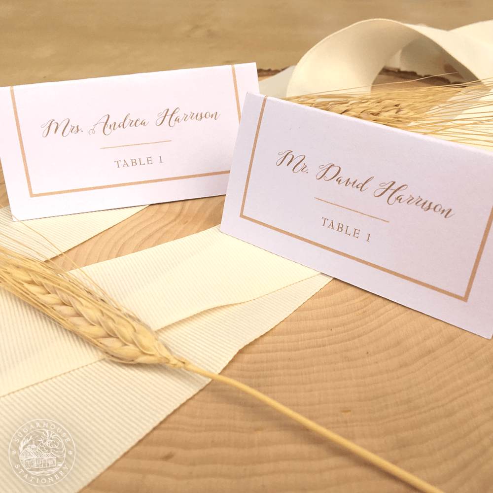 Acadia Place Cards