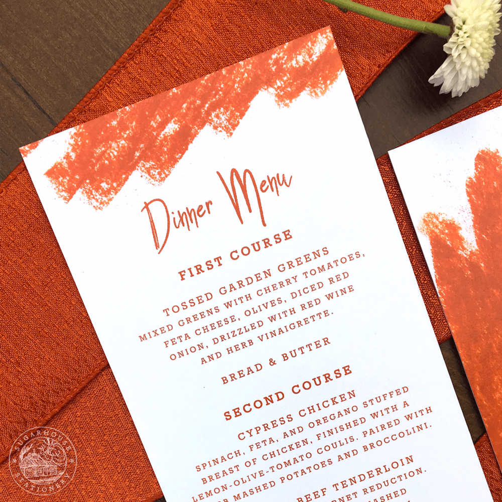 Arches Menu Cards