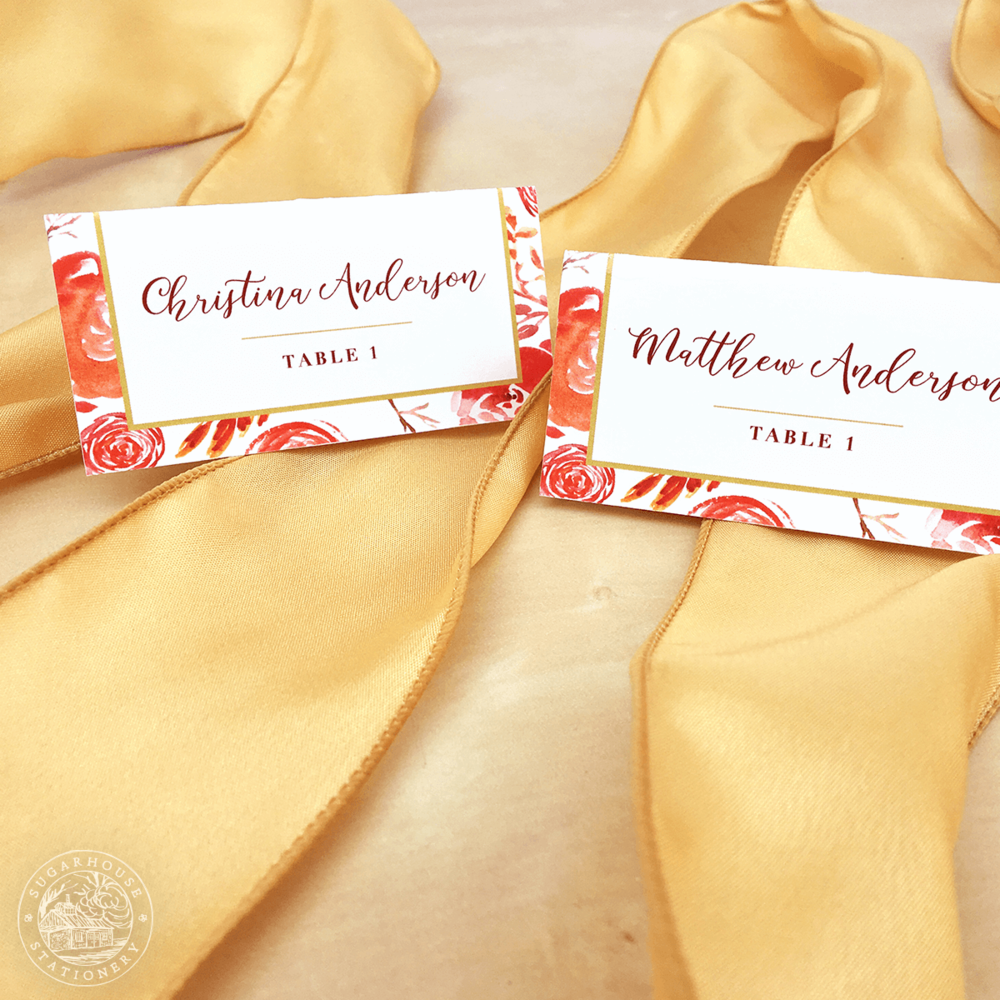 Charleston Place Cards