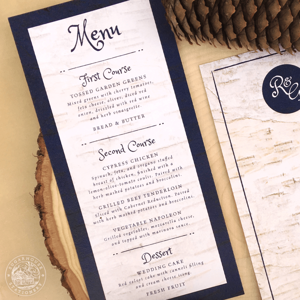 Dorr Menu Cards