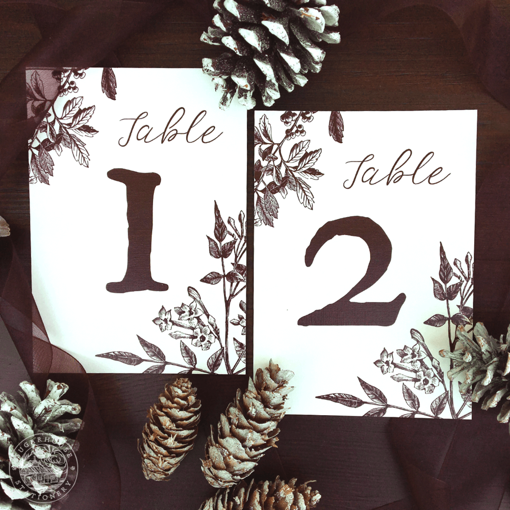 Easton Table Numbers
