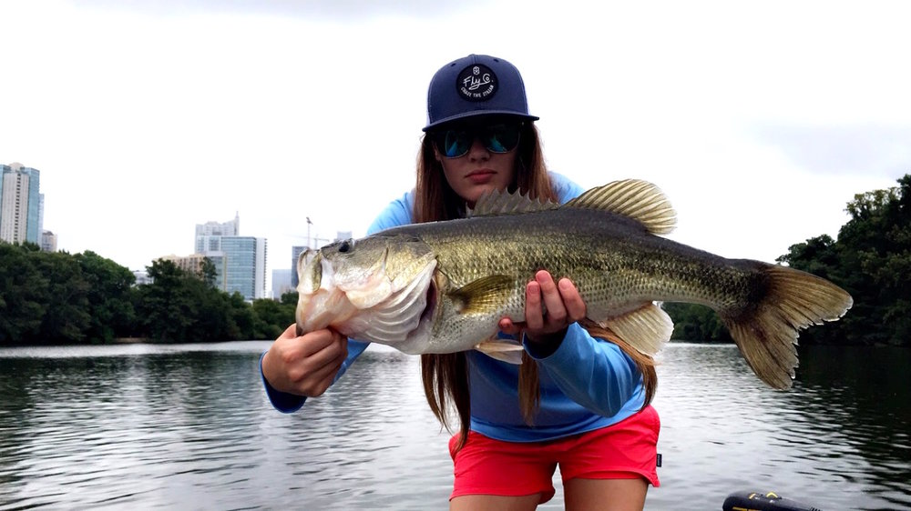 """Jordan Dwyer has been an outdoors enthusiast with a soul for the wild to match as long as she can remember. Born and raised in Austin, Texas, she was never more than a dash out the back door to any lake, river, or stream. Her love for fishing roots back to her earliest of childhood memories of growing up and fishing Lake Travis with her dad. At the age of 8, she was introduced to fly fishing, when her family started making annual trips up to Red River, New Mexico, and Colorado. Fishing from the Frying Pan, Roaring Fork, Arkansas, Rio Grande to Red River, Costilla Creek, Cimarron, and her favorite Valle Vidal; her love for fishing stuck, and she's never looked back. Jordan now gets her fix in the Texas Hill Country mainly fishing the Guadalupe, San Marcos, and Blanco Rivers any chance she can get. """"I love fishing the coast, the mountains, and the hill country any chance I can get. I look forward to expanding my horizons and meeting amazing new people along the way. I never flinch when a new opportunity presents itself and aim to take full advantage of any one that arises."""""""