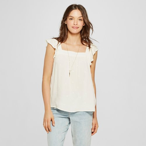 bfff0f69808 Women s Short Sleeve Embroidered Top - Universal Thread