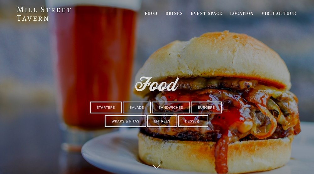 website example restaurant