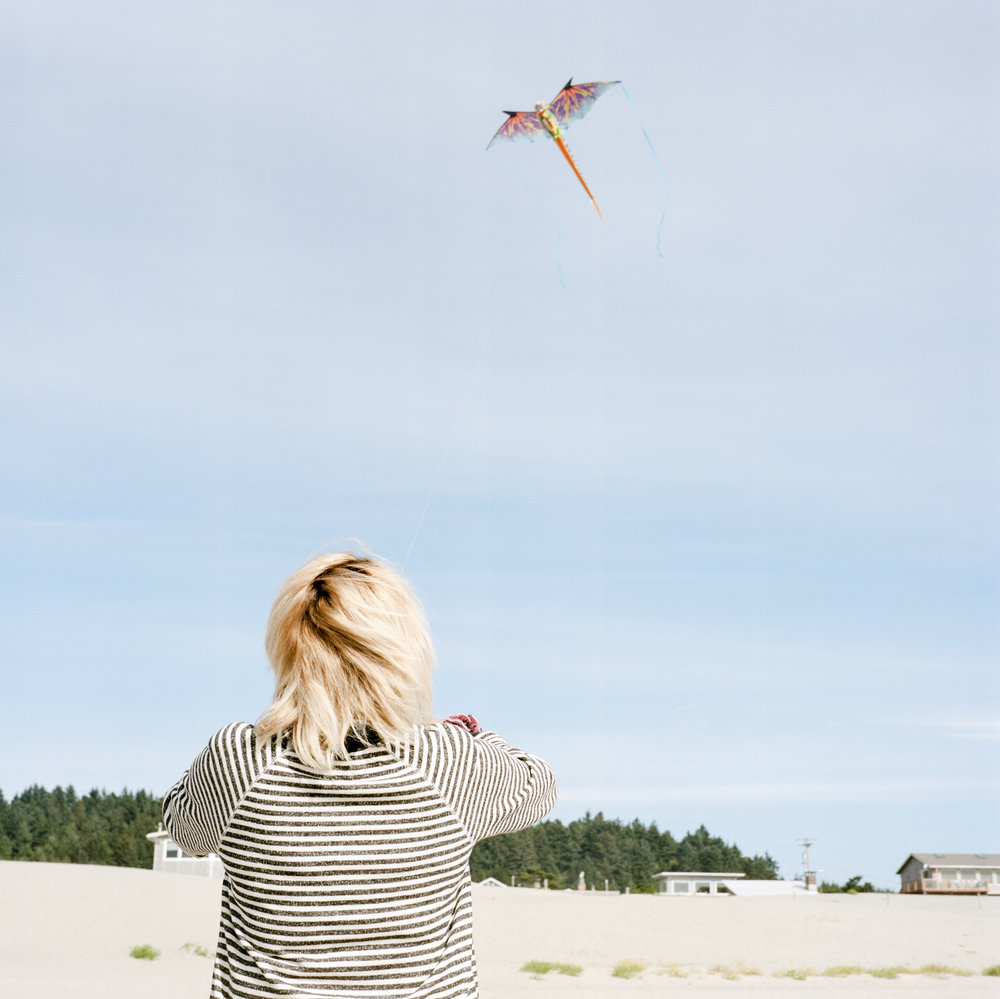 Kite flying! I love the soft colors.  Yashica-D | F16 | 1/500 sec | Kodak Portra 400