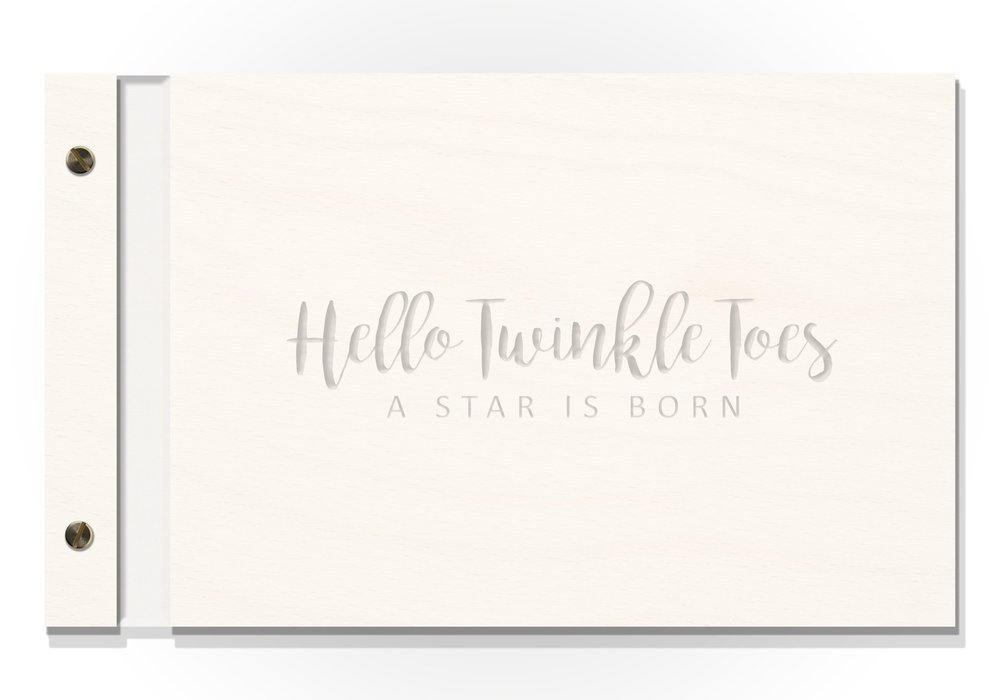 FEATURE: EZPZ Baby Books Original Cover - Matte white on Matte white Hello Twinkle Toes