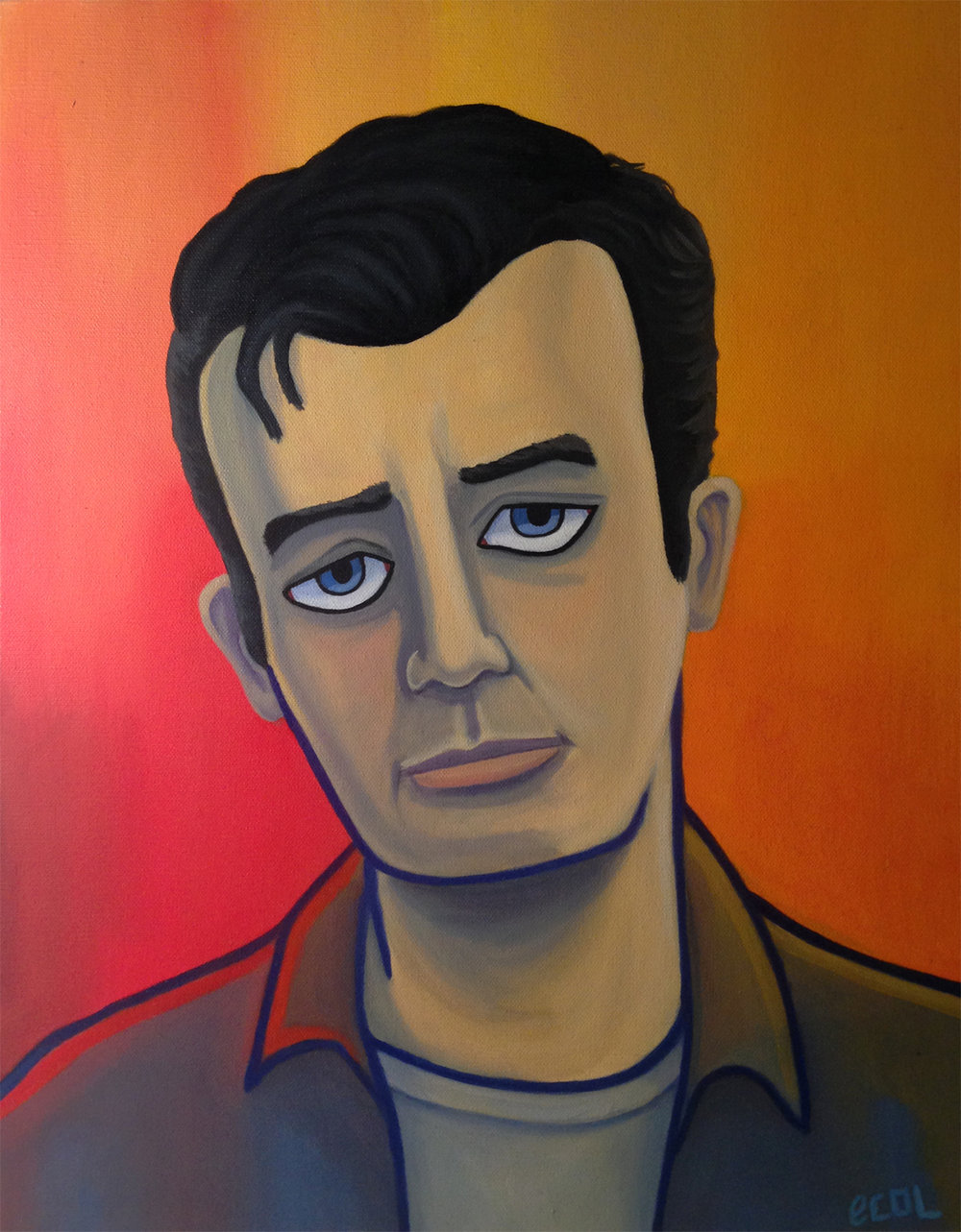 Jack Kerouac  | oil on canvas