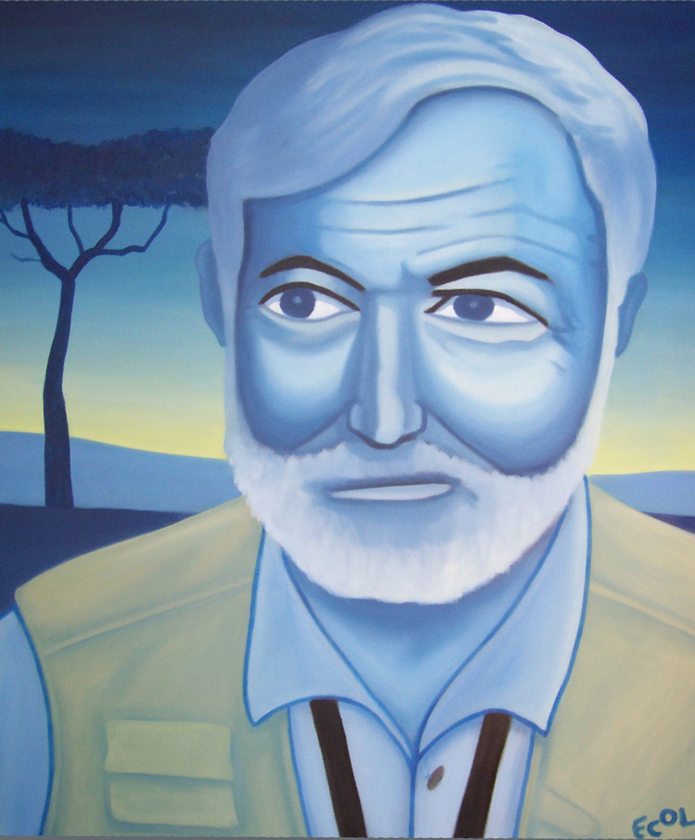 Ernest Hemingway  | oil on canvas