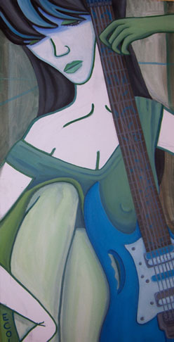 Guitar 1  | oil on canvas