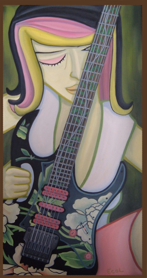 Guitar 2  | oil on canvas