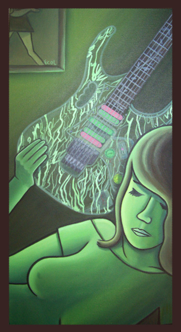 Guitar  3 | oil on canvas