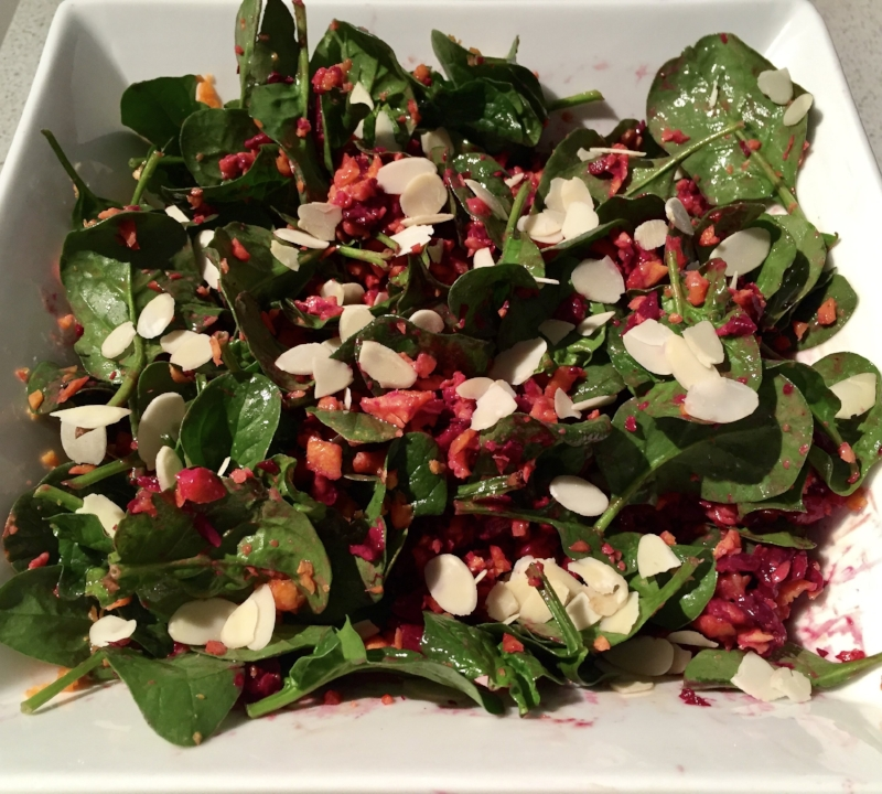 Carrot & Beetroot Salad w Tahini Dressing