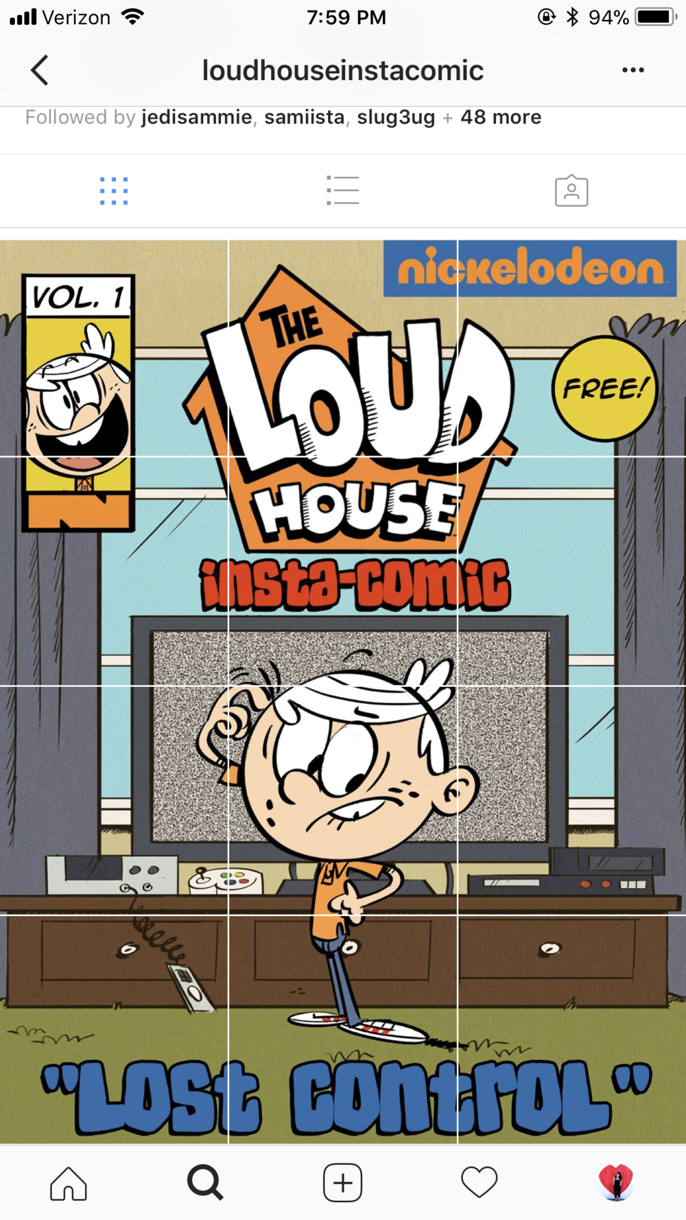 The Loud House Instacomic