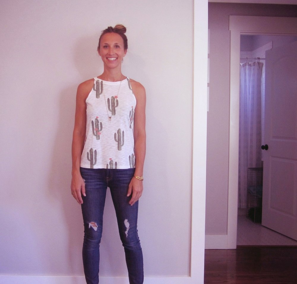 Tank:  Brokedown clothing  // Jeans:  Seven for all mankind  // Bracelets: Madewell,  here  // Necklace:  similar