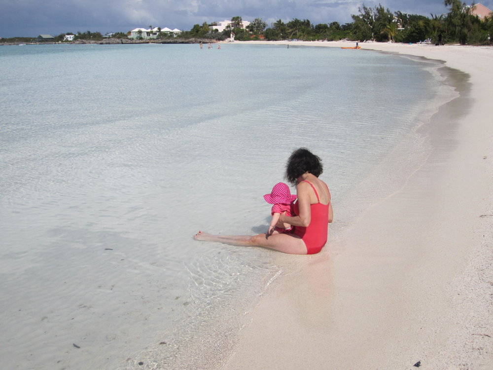 Ella and her Grandma Susie splashing in Sapodilla Bay. It was pretty awesome having grandparents along!